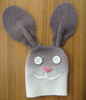 Elizabeth Abernathy rabbit hand puppet