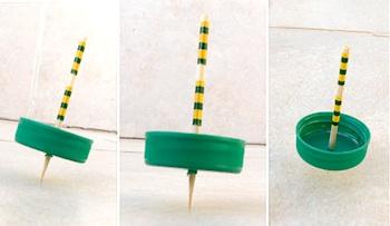 Creative Jewish Mom plastic cap spinning tops