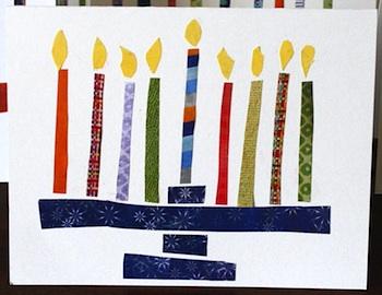 Dim Sum, Bagels, and Crawfish hanukkah cards