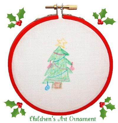 CC10 children's art ornament finished