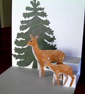 Chantal Vincent Art woodland pop-up card
