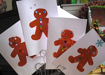Mermaids Creations gingerbread men cards