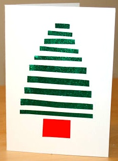 Activity Village striped tree card