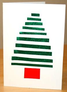 Activity Village striped tree card
