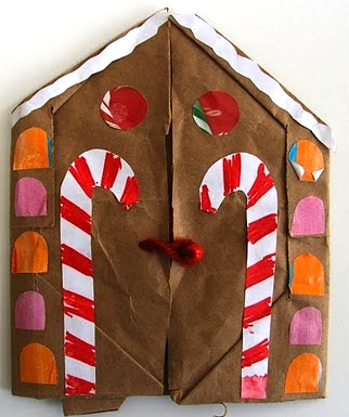 Making Books Blog gingerbread house accordion book