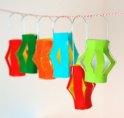 CC10 miniature lantern garland