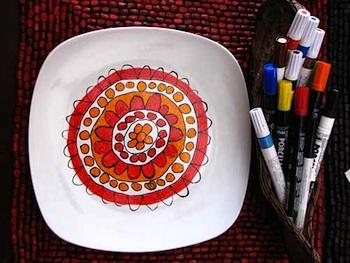 Craft Jr. kids modern art plate