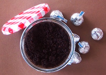 Sweet Tidings chocolate body scrub