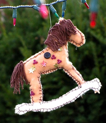 Ordinary Life Magic rocking horse ornament
