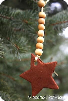 5 Orange Potatoes cinnamon apple ornament