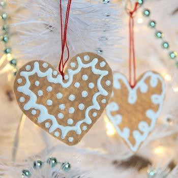Creature Comforts felt ginger cookie ornaments