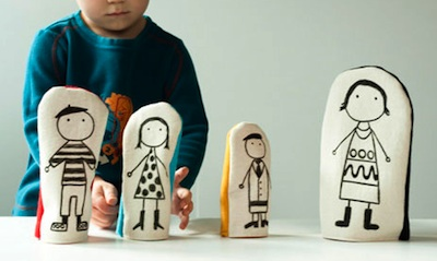 The Storque nesting fabric dolls