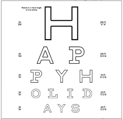Make your own eyechart