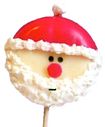 Cute Food For Kids round cheese santa