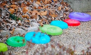 My Shtub winter stepping stones