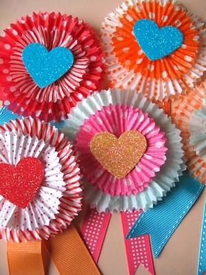 Urban Comfort cupcake liner valentines