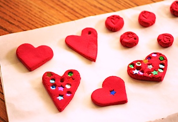 Let's Explore air dry clay hearts