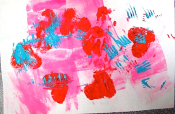 Laugh Paint Create toddler art valentines