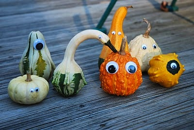 The Princess And The Frog googly eyed gourds