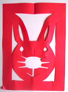 Activity Village chinese paper cut rabbit