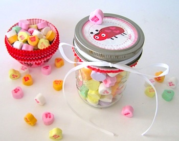 Free Pretty Things valentine candy jar