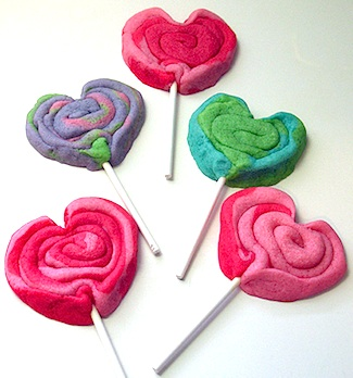 Edible Crafts heart cookie pops