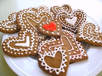 Going Starfishing valentine gingerbread cookies