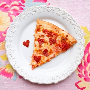 One Charming Party heart pizza