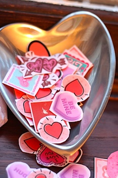 I Can Teach My Child diy valentine stickers