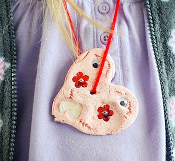 Annalea Hart clay heart necklaces
