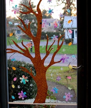Frugal Family Fun winter window