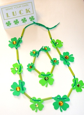 Home Confetti st. patrick's day necklace