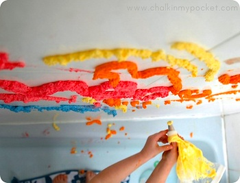 Chalk In My Pocket diy bathtub puffy paint