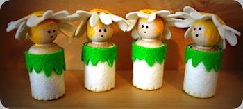 Twig And Toadstool flower peg dolls