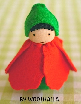 Woolhalla poppy peg doll