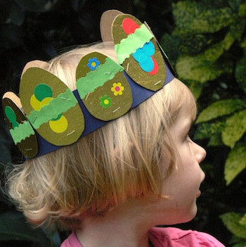 Sew Together paper easter egg crown