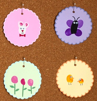 Sweet And Lovely Crafts thumbprint easter art