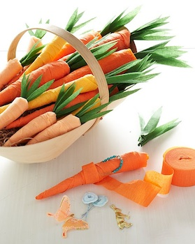 The Crafts Dept. crepe paper carrots