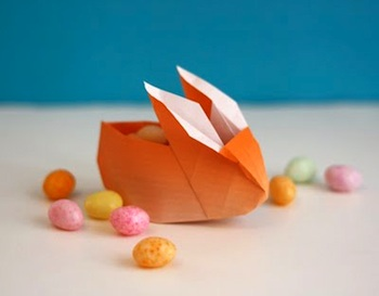 How About Orange origami bunny