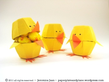 Paper, Plate, and Plane egg carton chicks