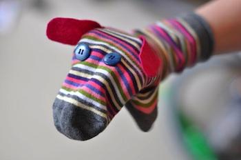 Lilla A sock puppet