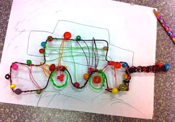Laugh Paint Create wire sculpture cars