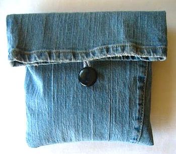 Elizabeth Abernathy recycled jean bag