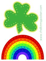 Chalk In My Pocket st. patricks day lacing printable