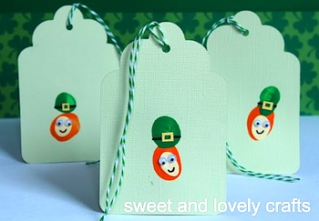 Sweet And Lovely Crafts leprechaun bookmarks