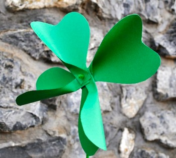 The Mother Huddle shamrock pinwheel