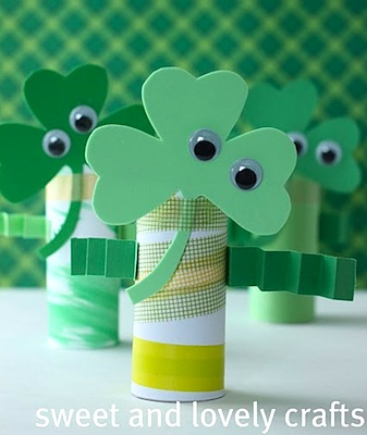 Sweet And Lovely Crafts wee shamrock men