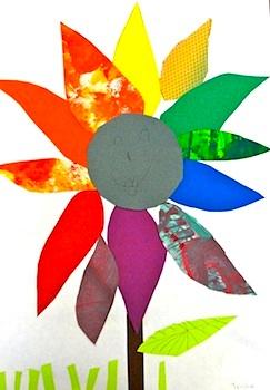Deep Space Sparkle Color Wheel Flower
