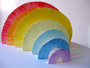 Debbie Hill paper rainbow inspiration