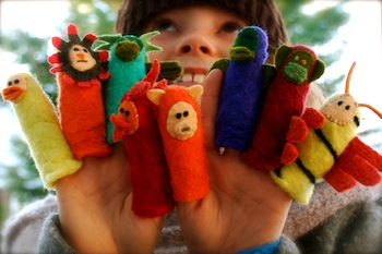 Whip Up felted finger puppets